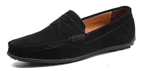YZHYXS - Mocasines de Ante para Hombre: Amazon.es: Zapatos y complementos