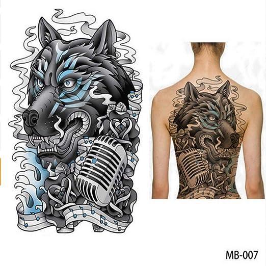 Modeganqing 2 Tatuaje en el Pecho con Espalda Grande Grande ...
