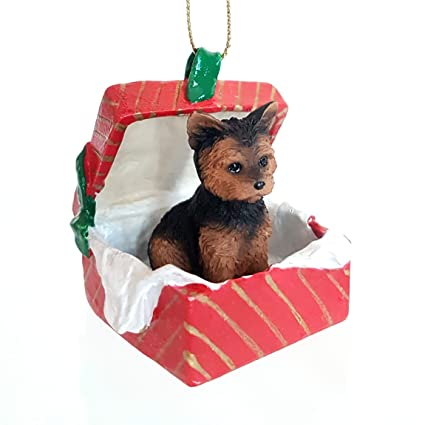 Amazon Com Eyedeal Figurines Yorkshire Terrier Yorkie Dog Sits In A