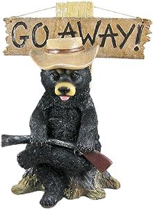 """""""Go Away"""" Country Bear Un-Welcome Garden Statue"""