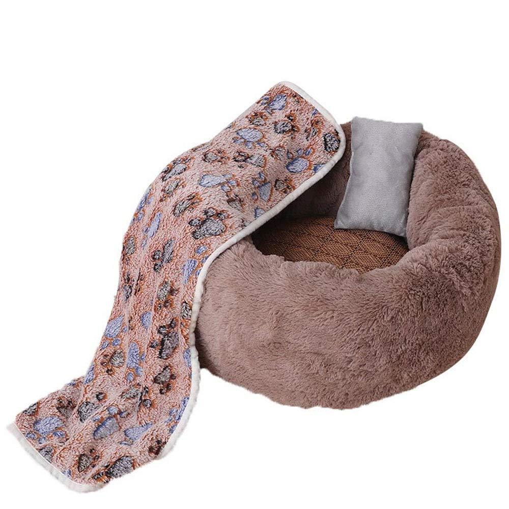 Qi Peng Pet Nest Cat Nest Small And Medium Dog Teddy Warm Dog Nest Cat Pad Autumn And Winter Warm Dog Mat Plush Pet Nest Pet bed (color   B, Size   50CMX50CMX22CM)