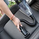 CLKJCAR Car Vacuum Cleaner with HEAP Filter - 4000PA Strong Suction Easy to Clean Car Pet Hair, Wet Dry Portable Handheld Auto Vacuum Cleaner Kit With 5M Power Cord (Black)