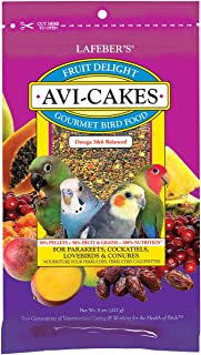 product image for LAFEBER'S Fruit Delight Avi-Cakes Pet Bird Food, Made with Non-GMO and Human-Grade Ingredients