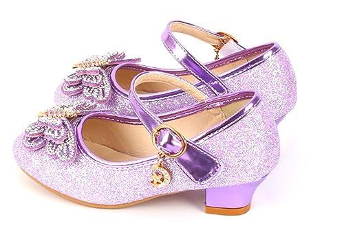 2992ba9c YOGLY Zapatos para Niñas Princesa Zapatos Tacones Altos Baile Zapatos de  Niña Lentejuelas Mariposa: Amazon.es: Zapatos y complementos