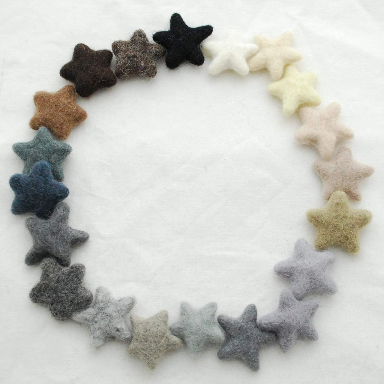 Assorted Colours 90 Count Assorted Felt Stars Oriental Direct 100/% Wool Felt Stars