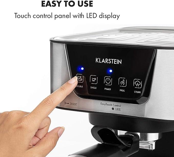 Klarstein Arabica Cafetera de espressos - 1050 W de potencia, 15 ...