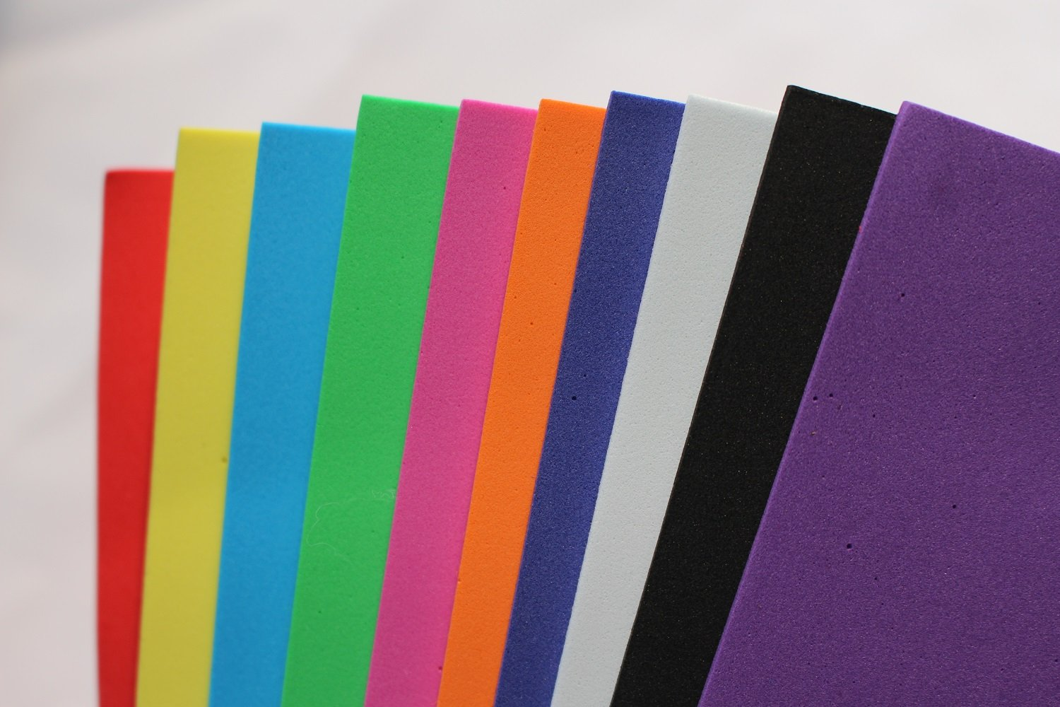 10X10cm 10 pcs 10 Colors Assorted Fly Tying Foam Paper Sheet Thin EVA Foam Ant Bugs Beetle Fly Tying Materials