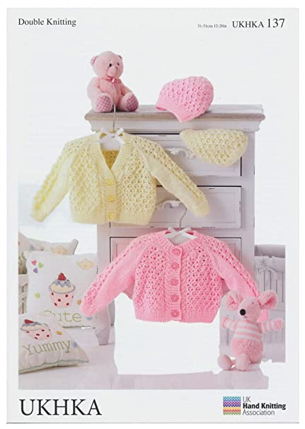 b397de6d7 Double Knitting Pattern - Baby Round   V-Neck Cardigans   Hats ...
