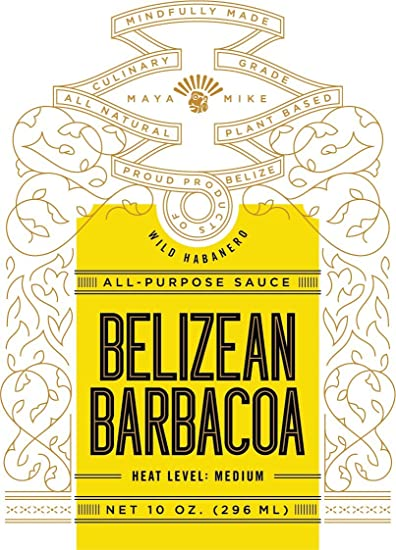 Maya Mikes Belizean Barbacoa All Purpose Hot Sauce, Medium Heat, 10 oz. (