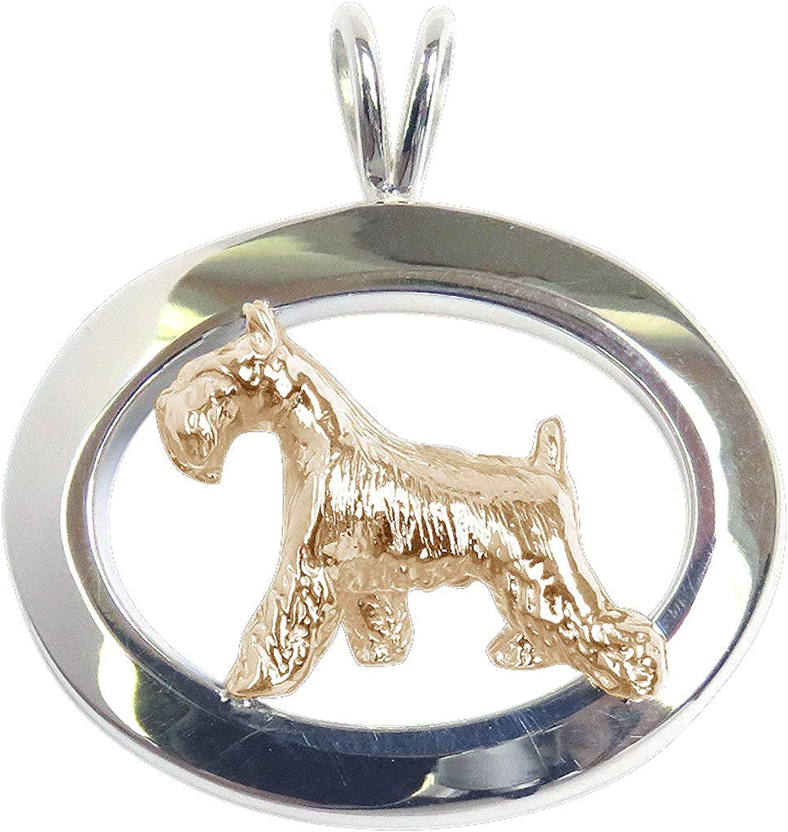 """Airedale Terrier Gold Plated Necklace Pendant 20/"""" Chain Jewelry*"""