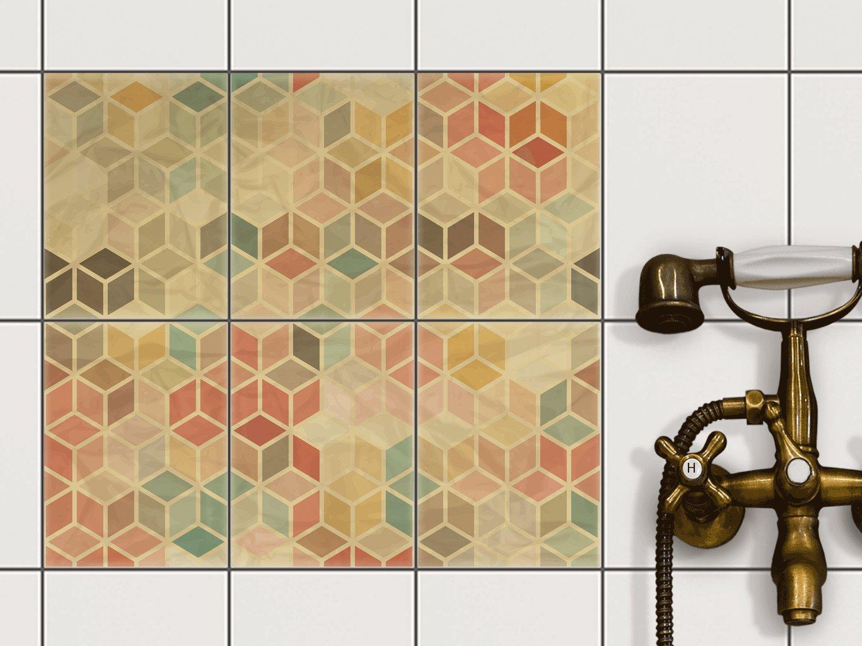 Amazon.de: creatisto Fliesen Folie Sticker Aufkleber selbstklebend ...
