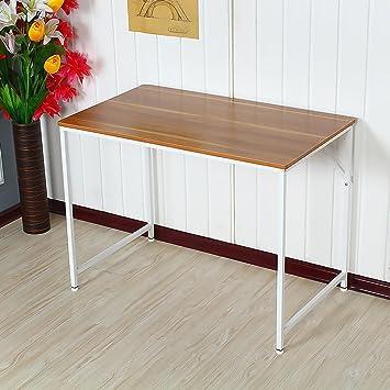 Schreibtisch Beine Holz.Ospi Rechteckig Holz Studie Tisch Computer Pc Schreibtisch