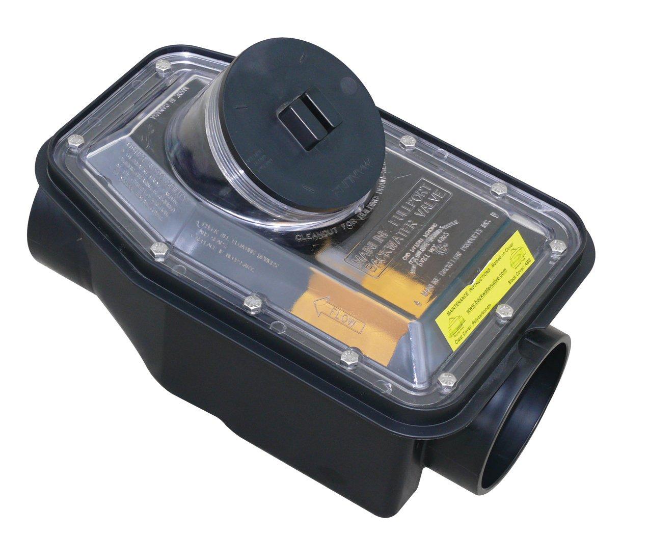 Canplas 123254PK1 ABS Fullport Backwater Valve, 4-Inch