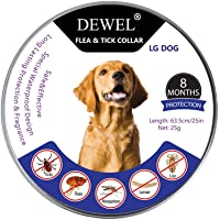DEWEL Collar Antiparasitos Perro/Gato contra Pulgas,Garrapatas y Mosquitos,Tamaño Ajustable e Impermeable para Mascota…