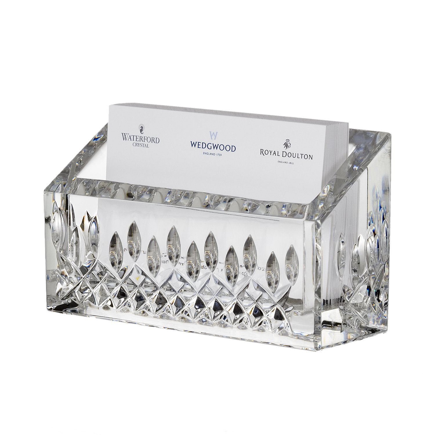 Waterford Lismore Essence Desk Collection Business Card Holder