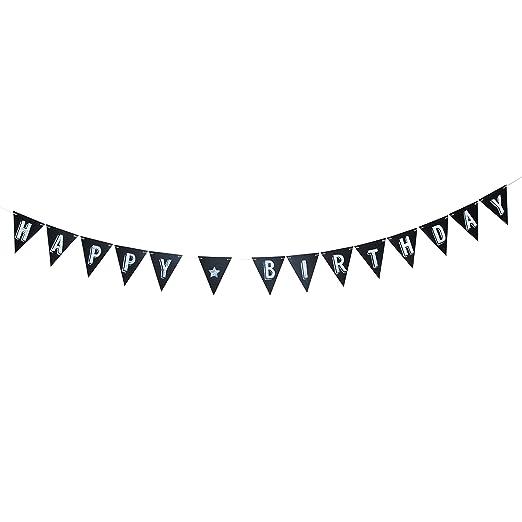Paladone - Juego de banderines, diseño de Pizarra, de Madera, Color Negro: Paladone: Amazon.es: Hogar