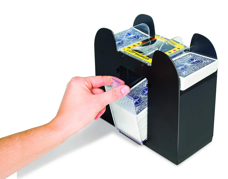Black, 6 Deck Jobar Deck Card Shuffler Automatic Card Shuffler