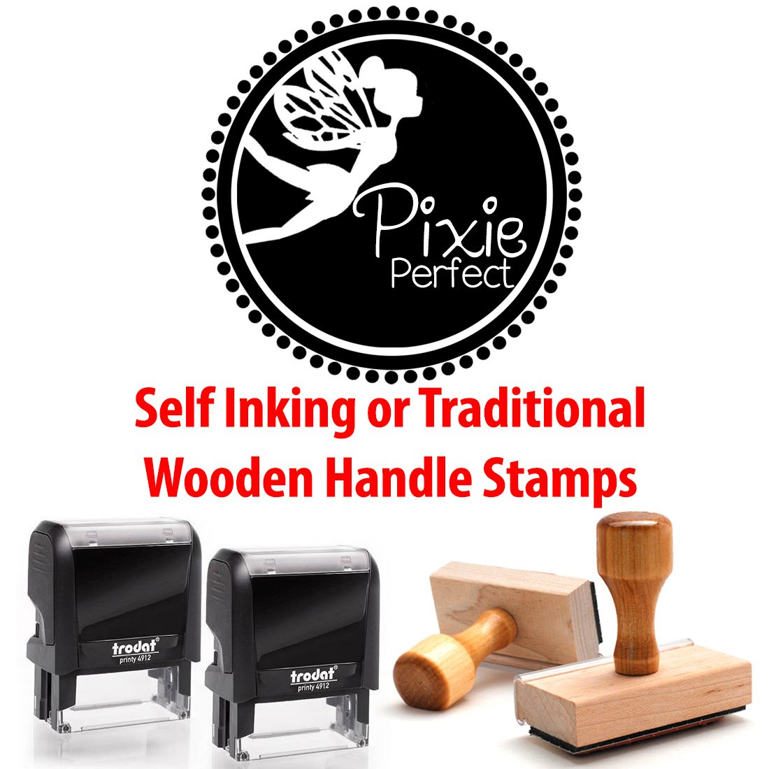 Personalized Custom Signature Stamp. Great Labelling Rubber Stamp With Unique Font. Perfect For Bank Deposits, Registered Nurses, Home, Office Or Schoolwooden Handle Stamper by Pixie Perfect Stamps (Image #4)