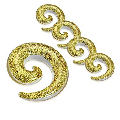 NRG Body Jewelry 5 Piezas de dilatador de Oreja en Espiral ...