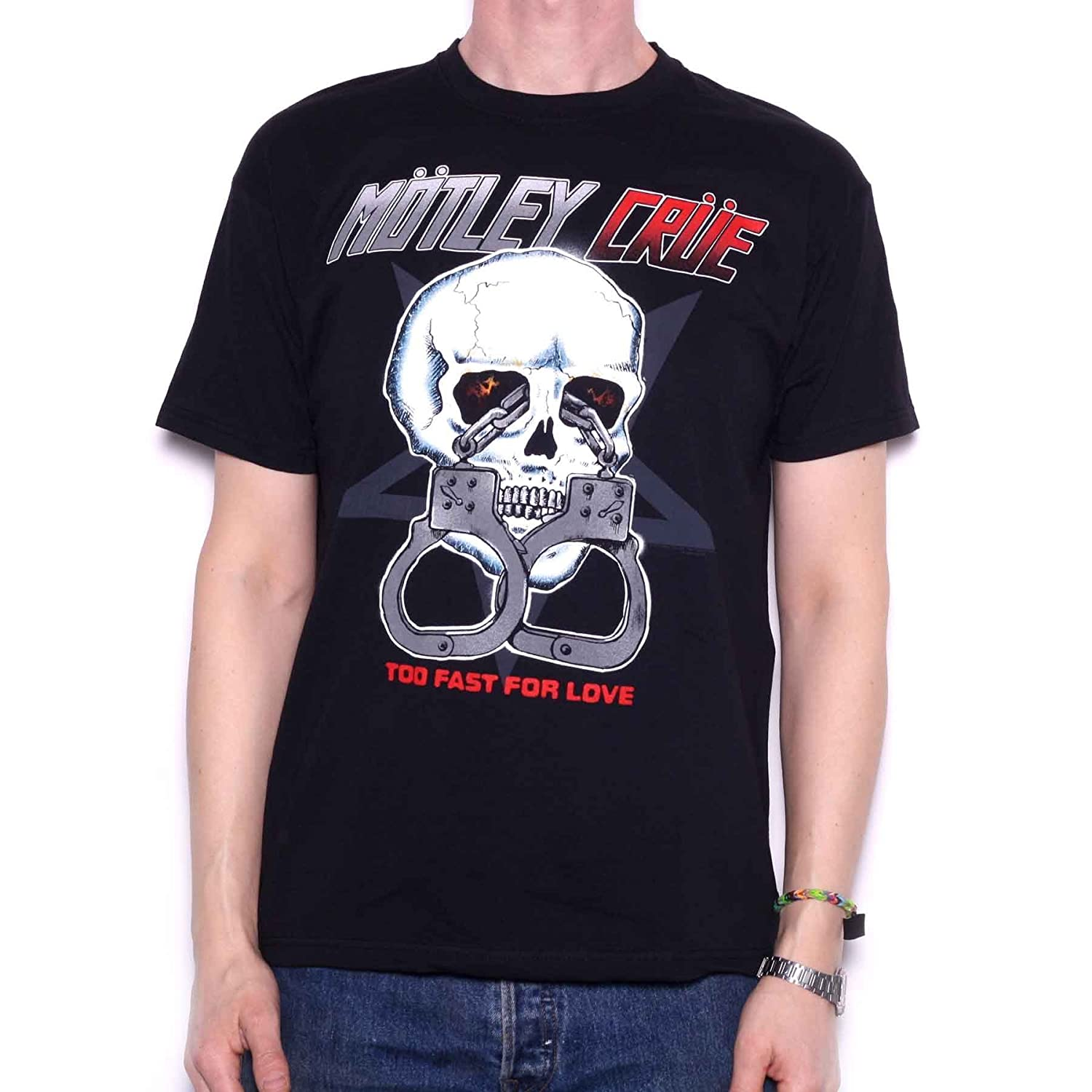 9121f83a99c Amazon.com  Motley Crue T Shirt - Too Fast for Love 100% Official Black   Clothing