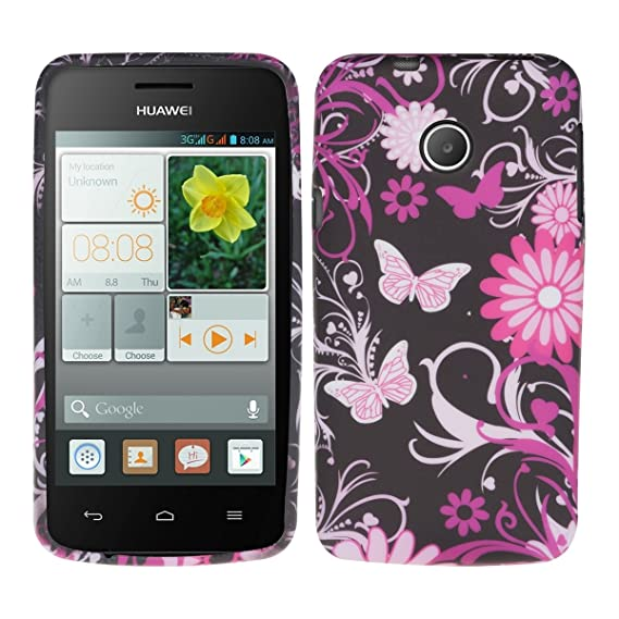 kwmobile TPU Silicone Case for Huawei Ascend Y330 - Soft Flexible Shock  Absorbent Protective Phone Cover - Dark Pink/Light Pink/Black