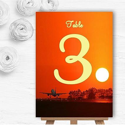 New York - Tarjetas para número de mesa de boda personalizadas 10 ...