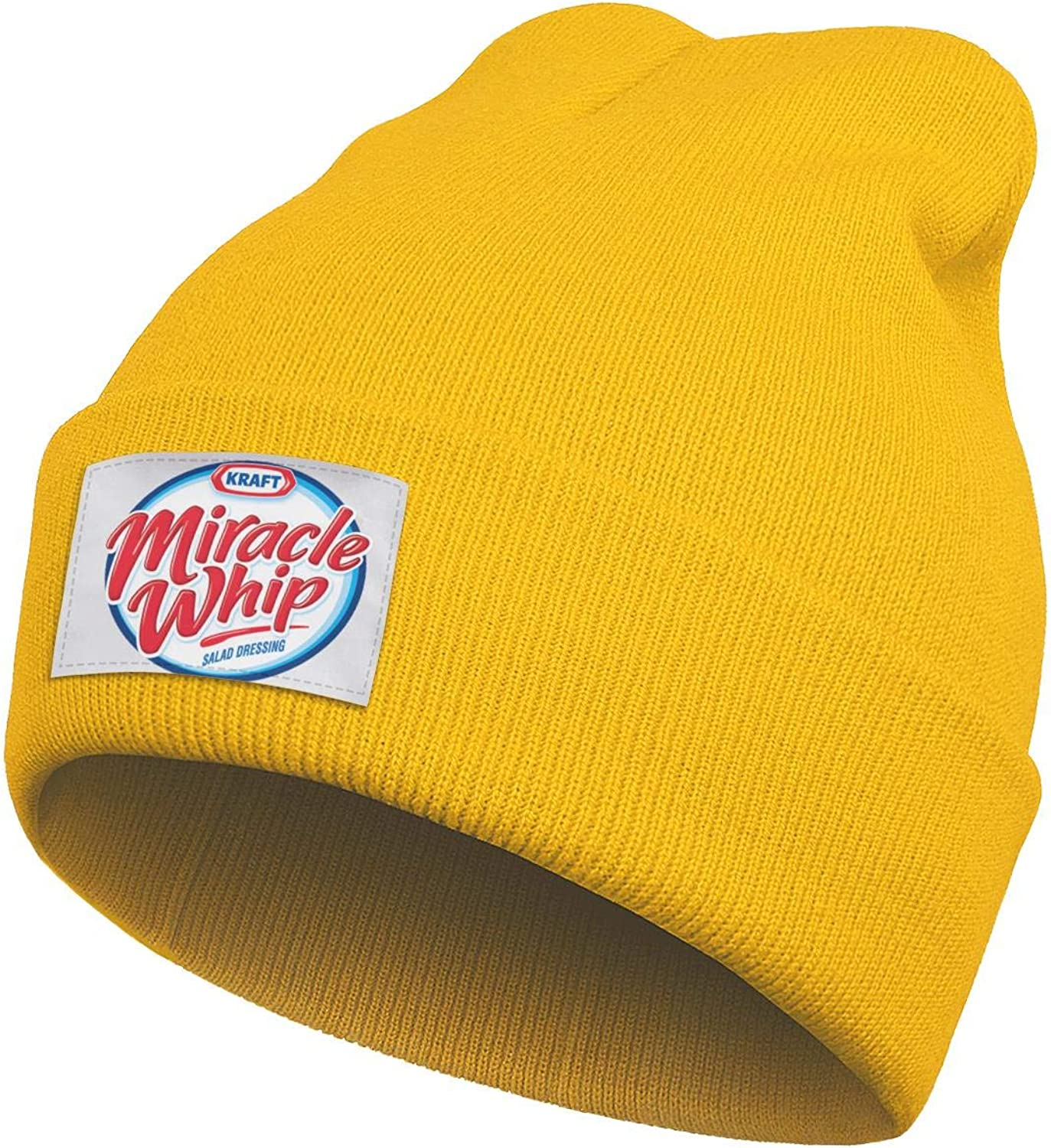 CAWFA98 Unisex Personalised Lowensenf- Winter Thick Fine Knit Hat Soft Yellow Beanie Caps