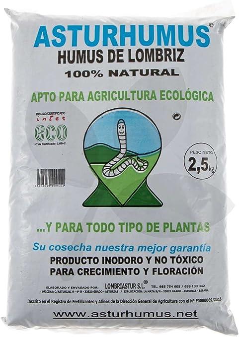 Humus de Lombriz Asturhumus 100% Ecológico - 2, 5 kg: Amazon.es ...