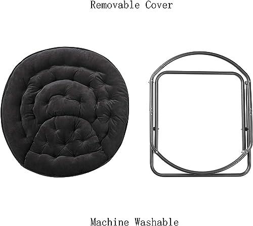 Papasan Moon Chair – Black