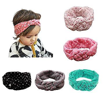 Kleidung, Schuhe & Accessoires Baby Kinder Mädchen Gepunktet Stirnband Schleife Knoten Haarband Stretch Turban Baby