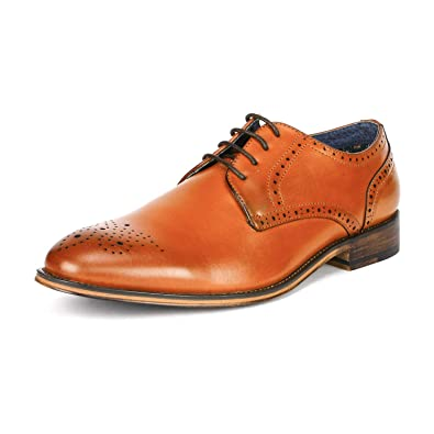 975e7f3bcdcec3 Bruno Marc Men's Louis_3 Brown Lace Up Soft Round-Toe Oxfords Formal Dress  Shoes Size