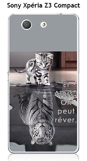 Onozo Carcasa Sony Xperia Z3 Compact Design Gato Tigre ...