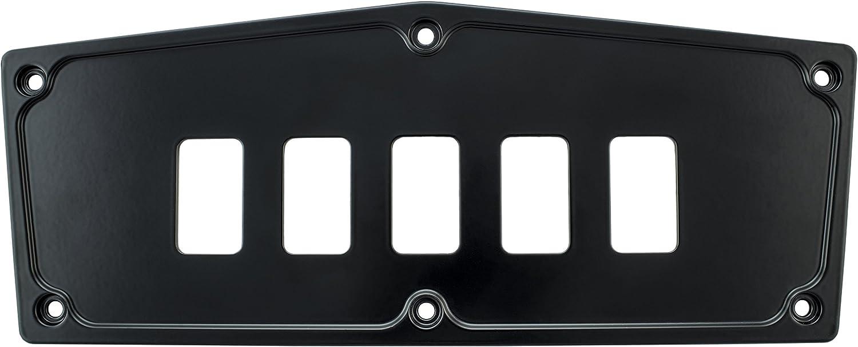 STV Motorsports Custom Aluminum Upper Dash Panel for 2016-2018 Yamaha YXZ1000R (no switches included) (5, Black)