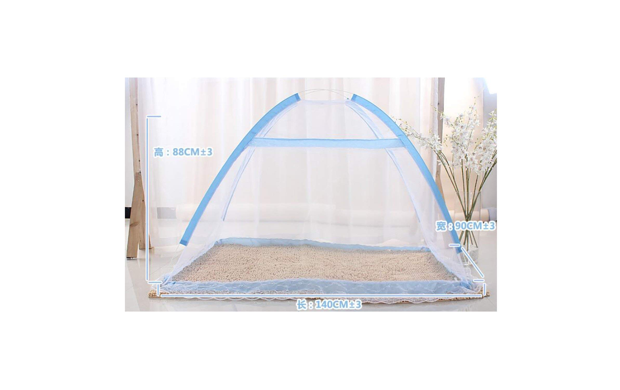 From Zero mosquito net for Children 90X140Cm Folding Baby Mosquito Net Mongolian Portable Outdoor Travel Mosquito Net,Sky Blue,90X140Cm