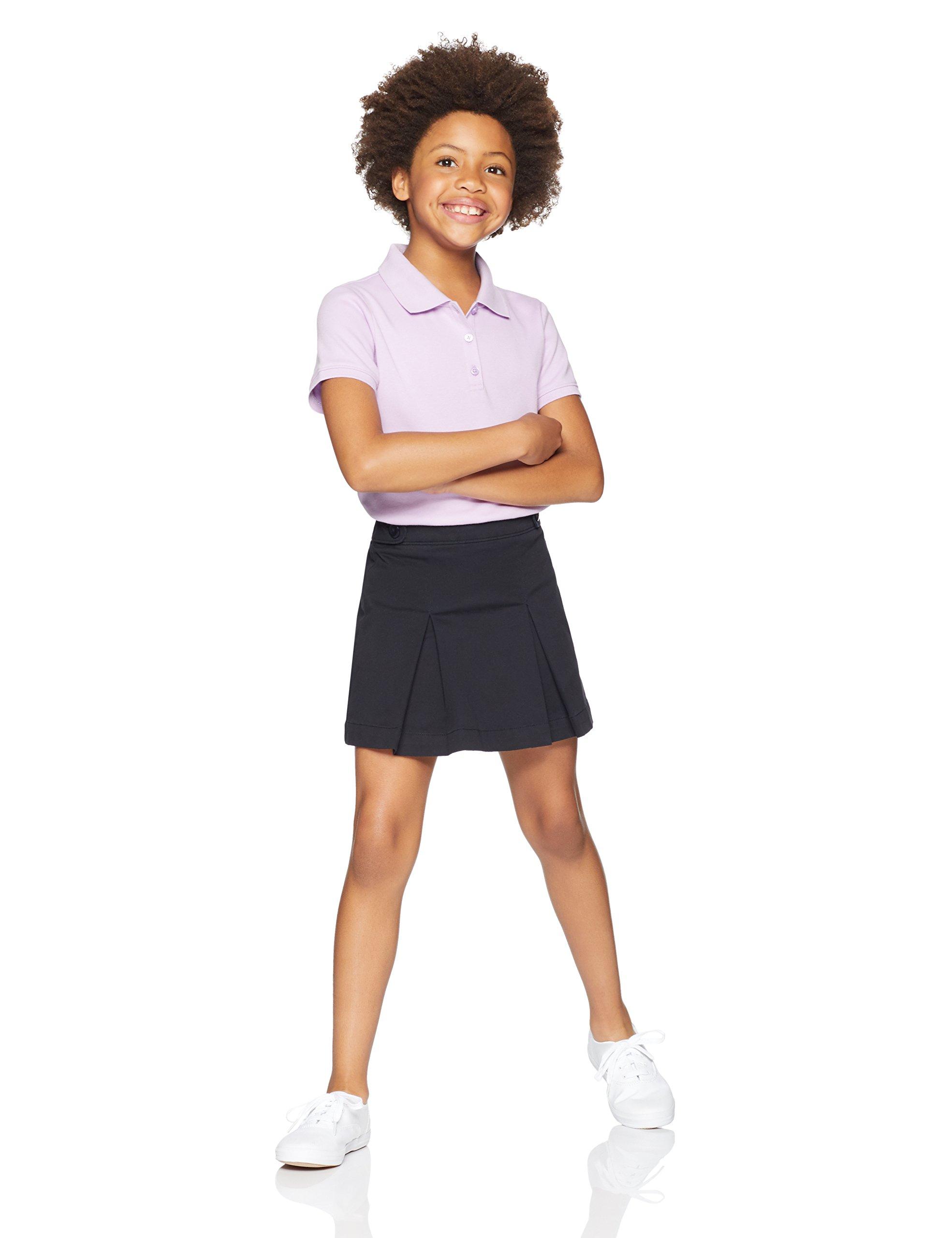 Amazon Essentials Girls' Uniform Skort, Black Beauty, M (8)