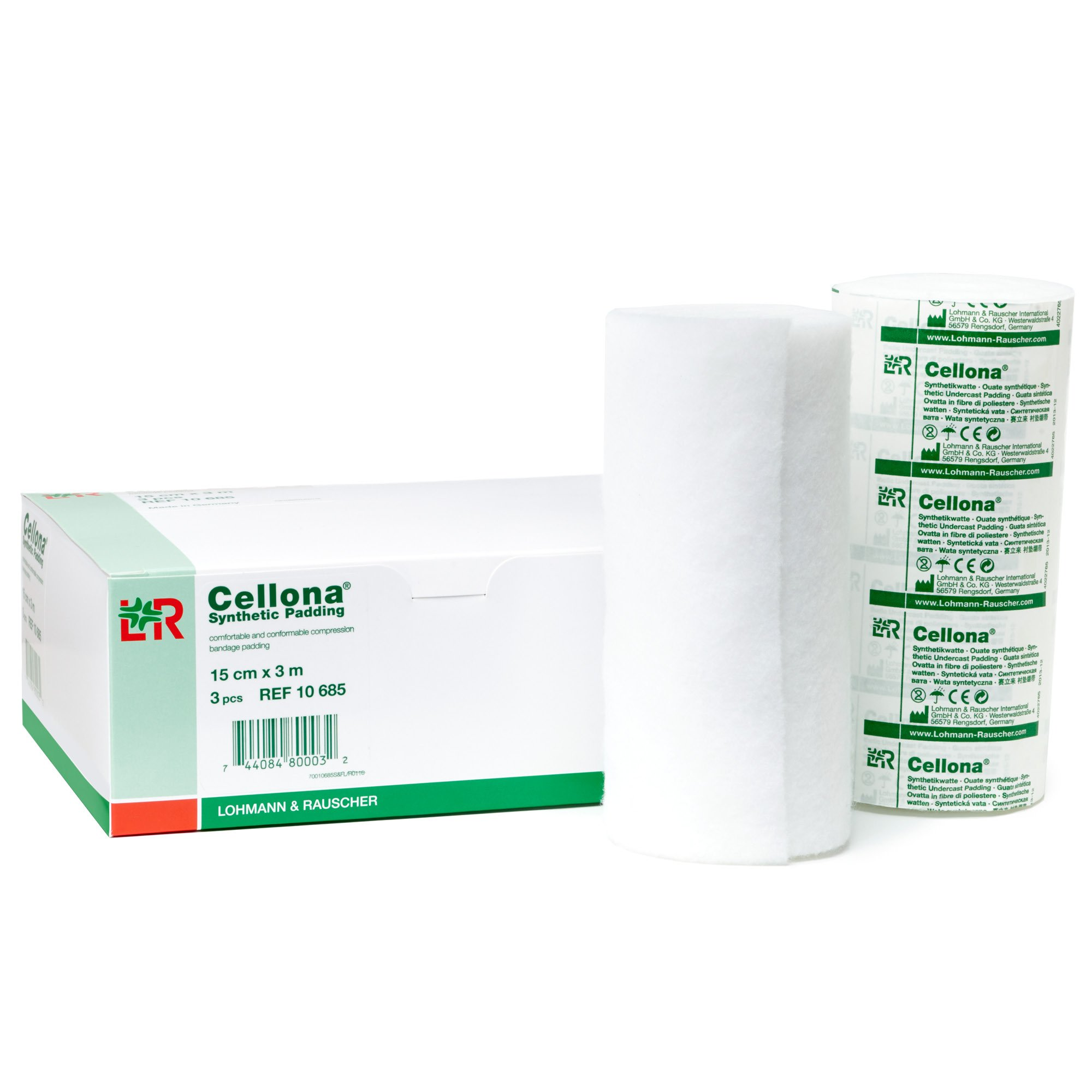 Lohmann & Rauscher Cellona Synthetic Padding, Latex Free Cast Padding for Compression Bandages & Casting, & 100% Polyester Self-Adhering Wrap, 30 Rolls, 5.9'' x 4 yards (15 cm x 3 m) by Lohmann&Rauscher