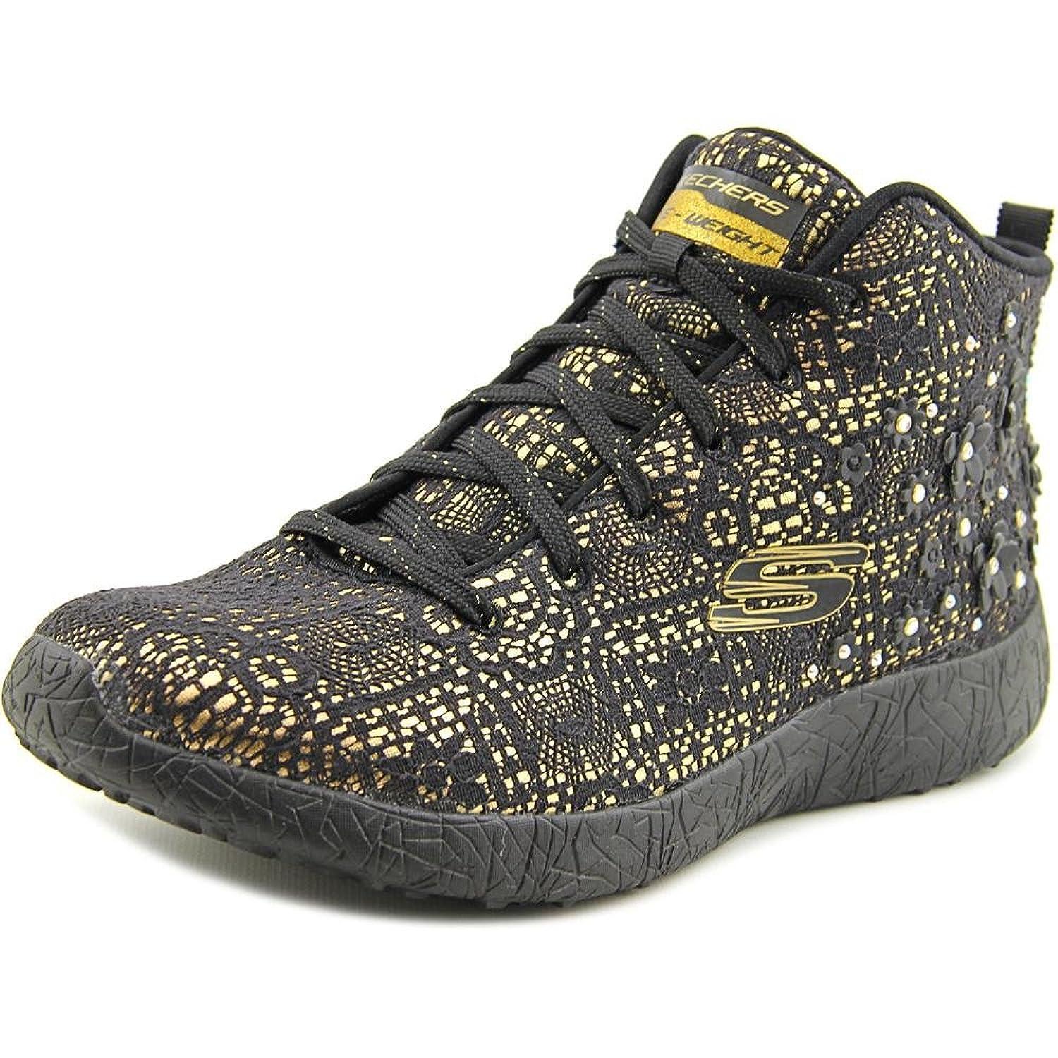 skechers high top sneakers. skechers burst seeing stars high top women round toe canvas black sneakers