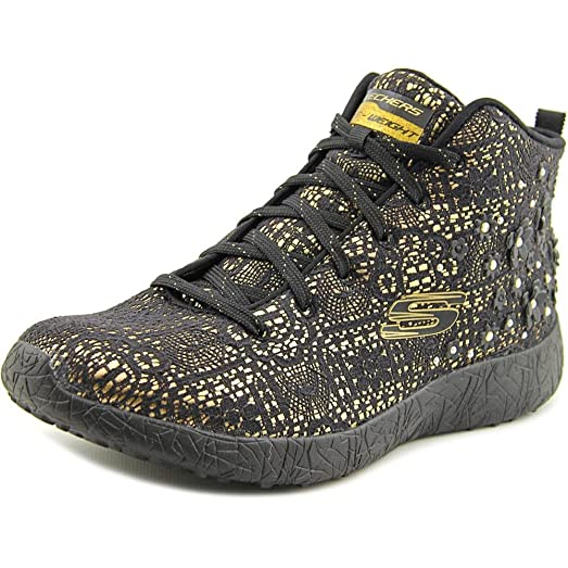 Skechers Burst Seeing Stars High Top Damen US 8 Schwarz Turnschuhe