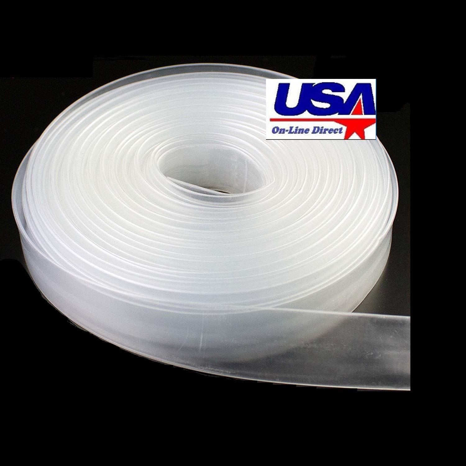 uxcell Heat Shrink Tubing 3//16-inch 2:1 Heat Shrink Tube Wire Wrap 16ft Clear 5mm
