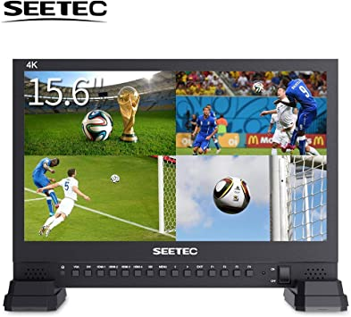 SEETEC 4K156-9HSD Monitor de video de estudio de difusión 3G, SDI, 15.6 pulgadas, 4K 3840x2160