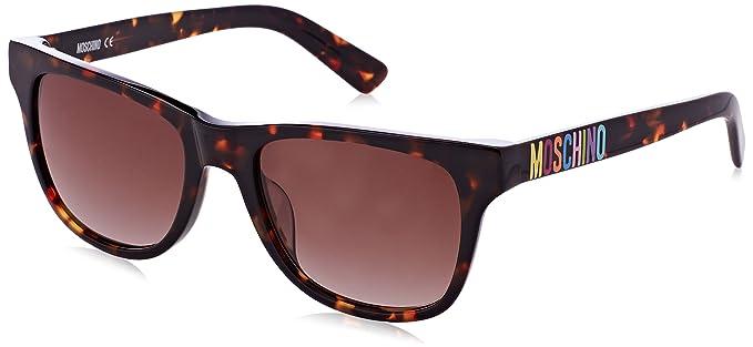 Moschino Damen MO-62007-S Sonnenbrille, Braun (Tortoise), 60