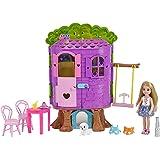 Barbie Casa Sull'Albero di Chelsea - con Bambola Inclusa - Due Piani e Accessori, FPF83