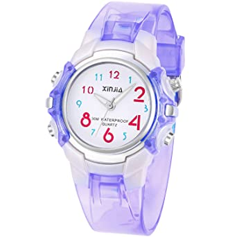 5aa97a4b9a26b4 Kids Watches,Color Large Dial Easy Read Time Teacher Watch for Boys Girls  Kids,Environment Silicone Band Waterproof Quartz Watch, Best Gift with Gift  Box ...
