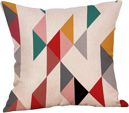 Geometric Cotton Pillow Case Waist Throw Cushion Cover Home Sofa Decor Latest