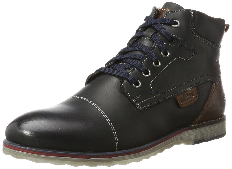 s.Oliver Herren 16211 Combat Boots Schwarz (Black)