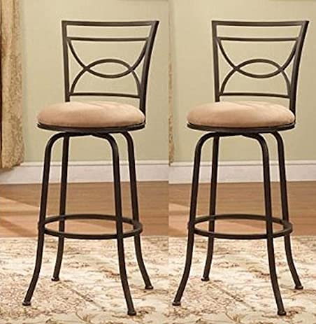 Legacy Decor Bronze Adjustable Swivel Counter Height Bar Stools 24u0026quot; - 29u0026quot; ...  sc 1 st  Amazon.com & Amazon.com: Legacy Decor Bronze Adjustable Swivel Counter Height ... islam-shia.org