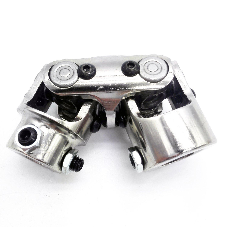 3/4'' DD x 1'' DD Double Chrome Universal Steering Shaft U Joint Hotrod Streetrod New