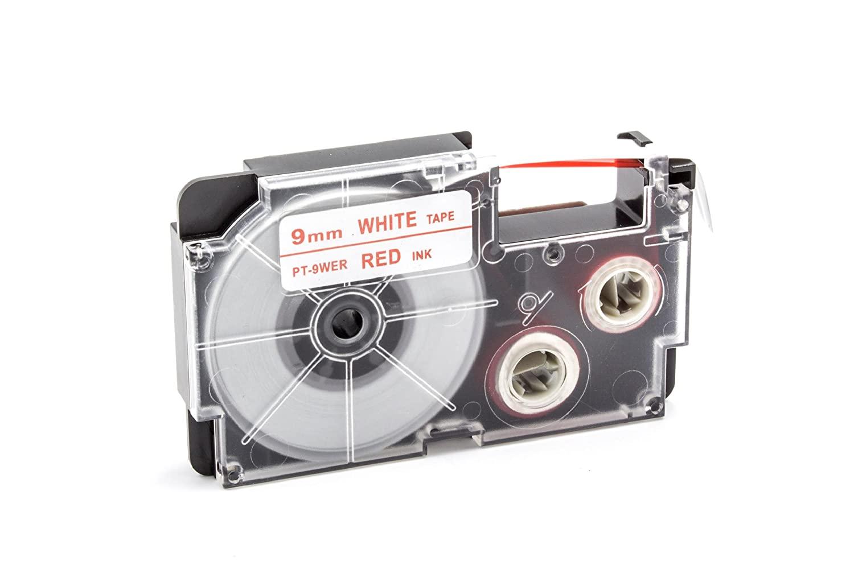 Ruban Cassette Cartouche 9mm vhbw pour Casio KL-130, KL-200, KL-2000, KL-200E, KL-7200, KL-7400, KL-G2, KL-HD1 comme XR-9WER, XR-9WER1.