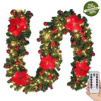 Decoration De Noel Exterieur Lumineuse.Morbuy Décoration De Noël Lumineuse Guirlande De Sapin Intérieur Extérieur Led Mode 8 à Distance Vert Décor De Noël Pour Mariage Anniversaire Fête