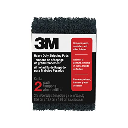 3M Heavy Duty Stripping Pads, 3.375 Inch By 5 Inch By .75